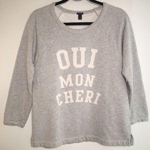 J Crew Gray Sweater oui mon cheri women's small